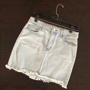 Lulu's O2 Denim mini skirt